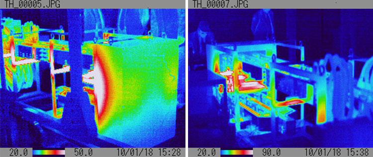 大電流通電時のサーモカメラ